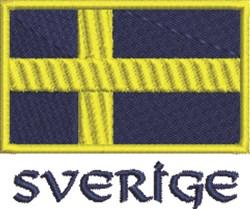 Sverige Flag embroidery design