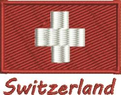 Flag Of Switzerland embroidery design