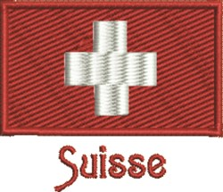 Suisse Flag embroidery design