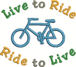 Live To Ride embroidery design