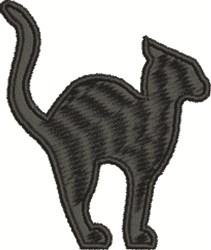 Perplexed Cat embroidery design