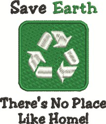 Save Earth embroidery design