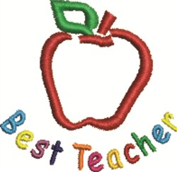 Best Teacher embroidery design
