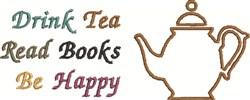 Drink Tea embroidery design