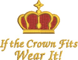Crown Fits embroidery design