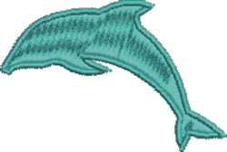 Dolphin Outline embroidery design