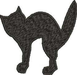 Fraidy Cat embroidery design