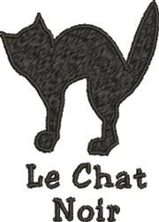 Le Chat Noir embroidery design