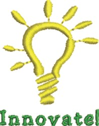 Lightbulb Innovate embroidery design