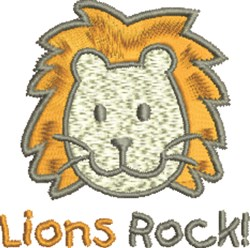 Lions Rock embroidery design