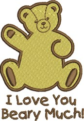 Beary Much embroidery design