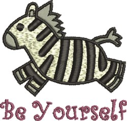 Zebra Be Yourself embroidery design