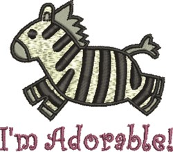 Zebra Adorable embroidery design