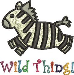 Wild Thing! embroidery design