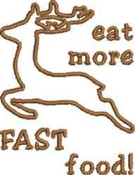Fast Food Deer embroidery design