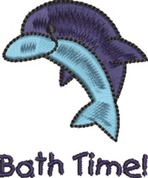 Dolphin Bath Time embroidery design