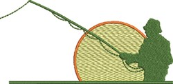 Fishing Fisherman embroidery design