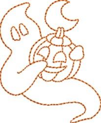 Ghost Pumpkin embroidery design