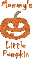 Mommys Little Pumpkin embroidery design