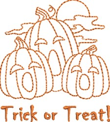 Pumpkin Treat embroidery design