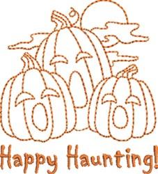 Pumpkin Haunting embroidery design