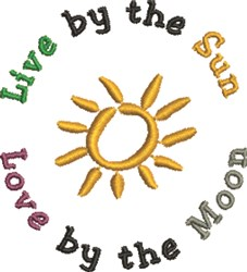 Live by the Sun embroidery design