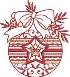 Christmas Ornament Bow embroidery design