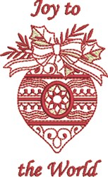 Joy Bauble embroidery design