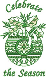 Celebrate Bell Holly embroidery design