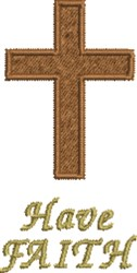 Crucifix Have Faith embroidery design
