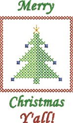 Christmas Tree Yall embroidery design