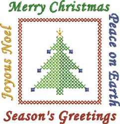 Joyous Merry Peace Greetings embroidery design