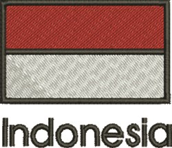 Indonesia Flag embroidery design
