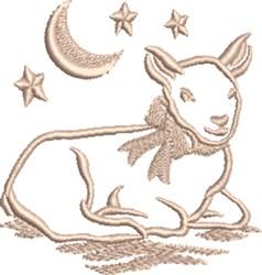 Lamb & Moon embroidery design