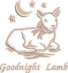 Goodnight Lamb embroidery design