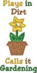 Plays in Dirt embroidery design