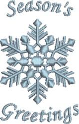 Snowflake Seasons Greetings embroidery design