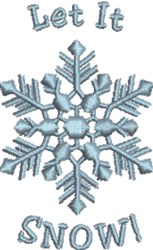Let It Snowflake embroidery design