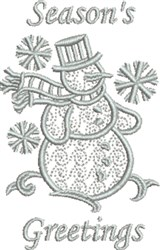 Snowman Greetings embroidery design