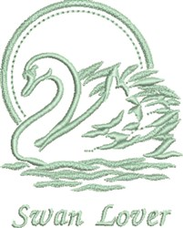 Swan Lover embroidery design