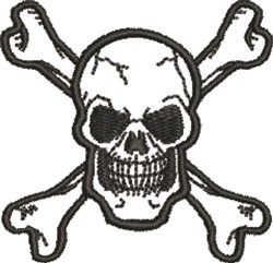 Pirate Warning embroidery design