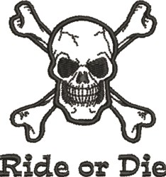 Ride of Die embroidery design