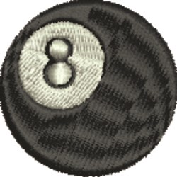 8 Ball embroidery design
