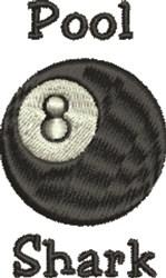 Pool Shark 8 Ball embroidery design
