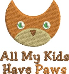 Cat Kids embroidery design
