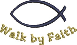 Christian Ichthys Faith embroidery design