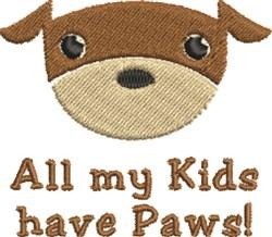 Dog Kids embroidery design