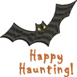 Happy Haunting Bat embroidery design