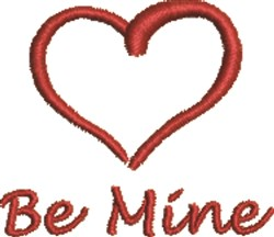 Be Mine Heart embroidery design