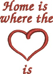 Home Heart embroidery design